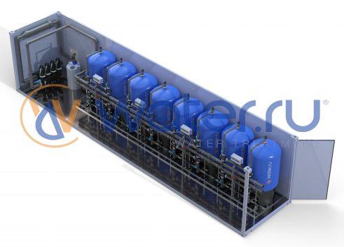 Блочно-модульная станция водоподготовки